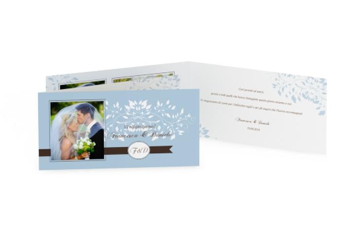 Ringraziamenti matrimonio collezione Malaga DIN lang Klappkarte