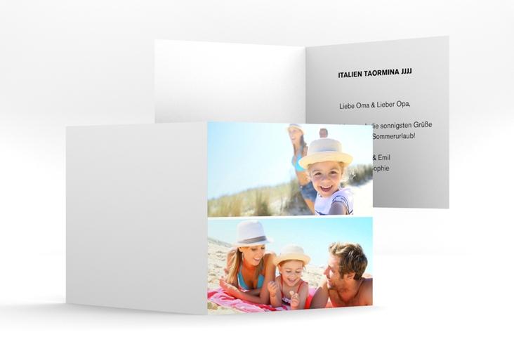 quadratische Klappkarte – 2 Bilder Quadratische Klappkarte