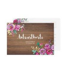 """Antwortkarte Hochzeit """"Flourish"""""""