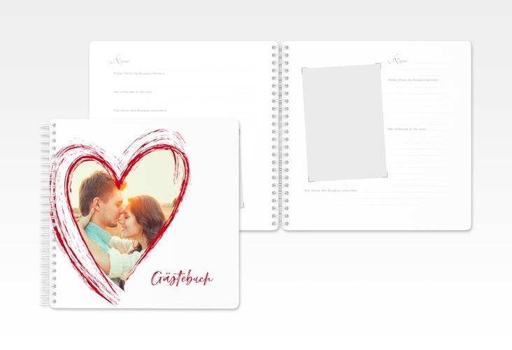 "Gästebuch Hochzeit ""Liebe"" Ringbindung"
