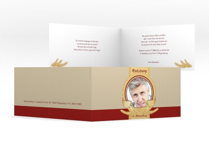 """Einladungskarte """"Franz"""" DIN lang Klappkarte"""