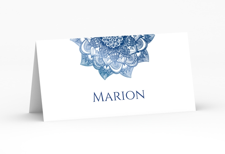 """Tischkarte Hochzeit """"Delight"""" Tischkarten blau"""