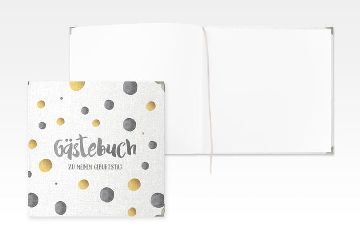 "Gästebuch Selection Geburtstag ""Dots"" Leinen-Hardcover grau"