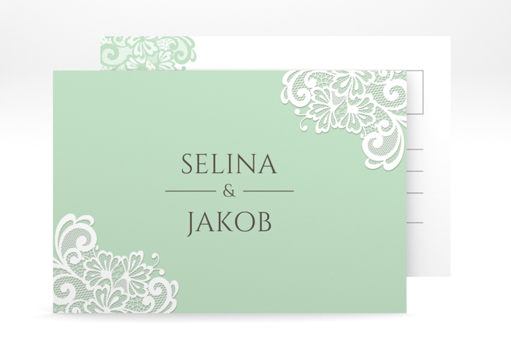 "Save the Date-Postkarte ""Vintage"" A6 Postkarte mint"