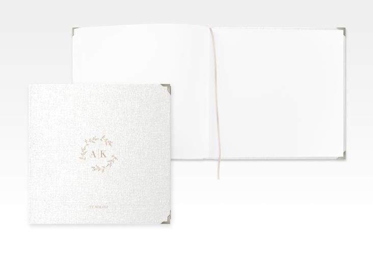 """Gästebuch Selection Hochzeit """"Filigrana"""" Leinen-Hardcover beige"""
