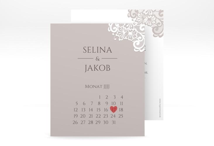 """Save the Date-Kalenderblatt """"Vintage"""" Kalenderblatt-Karte"""