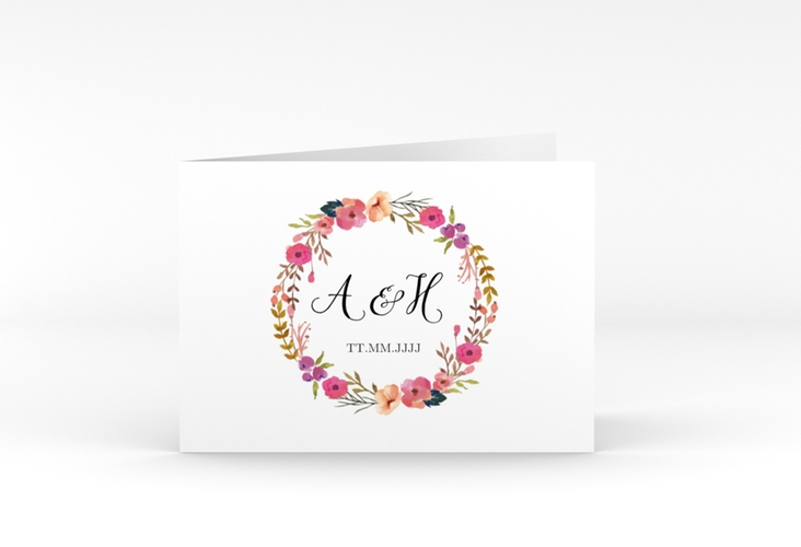 "Danksagungskarte Hochzeit ""Fiore"" A6 Klappkarte Quer"
