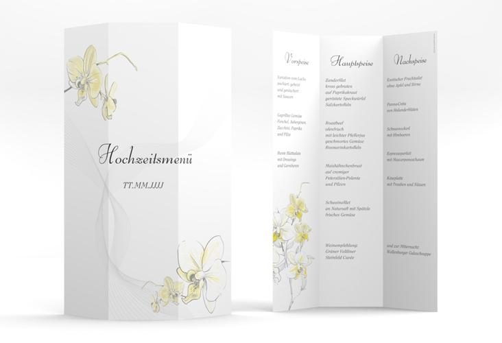 """Menükarte Hochzeit """"Modena"""" DIN A4 Wickelfalz"""