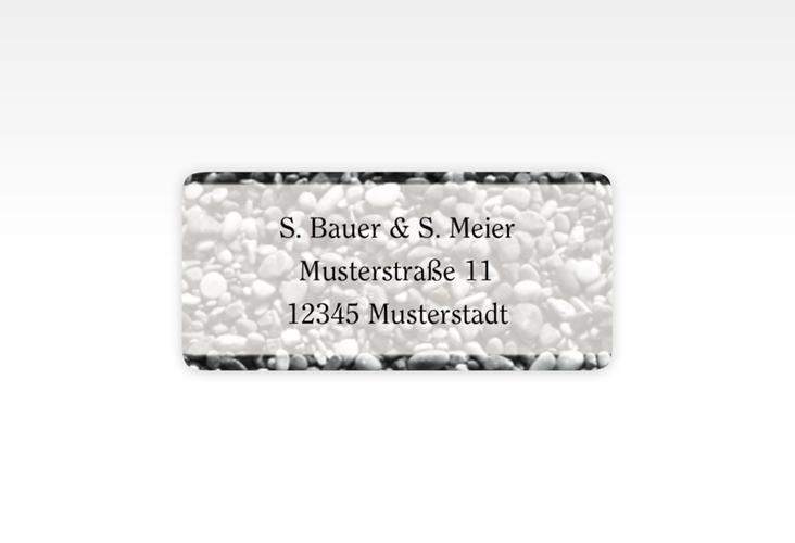 """Absenderetikett Hochzeit """"Bilbao"""" 45,7 x 21,2 mm"""