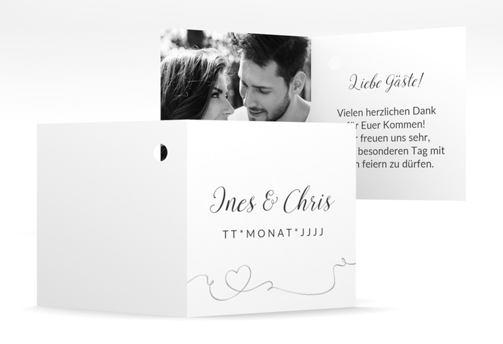 "Geschenkanhänger Hochzeit ""Dolce"" Geschenkanhänger 10er Set weiss"