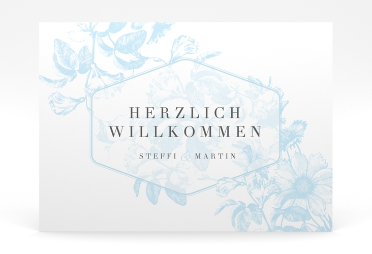 """Willkommensschild Poster """"Magnificent"""" 70 x 50 cm Poster tuerkis"""