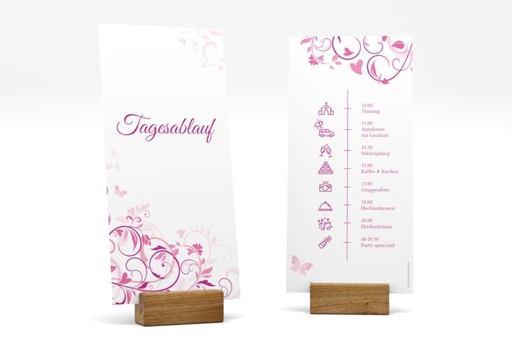 """Tagesablauf Hochzeit """"Lilly"""" DIN lang hoch"""