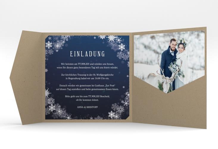 """Hochzeitseinladung """"Winterdream"""" Pocketfold"""