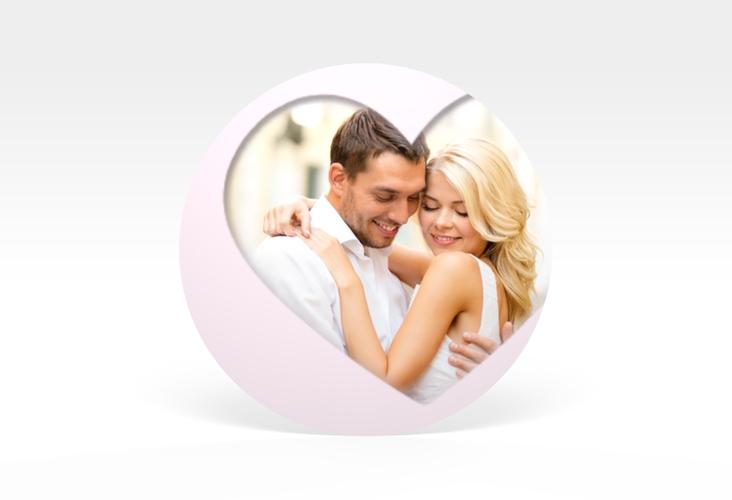 """Aufkleber Hochzeit """"Sweetheart"""" Aufkleber, selbstklebend, rund rosa"""