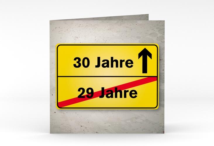 "Einladungskarte ""Julian/Juliane"" Quadratische Klappkarte"