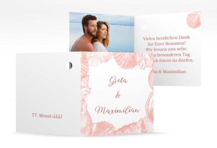"""Geschenkanhänger Hochzeit """"Muschelreich"""" Geschenkanhänger 10er Set rot"""