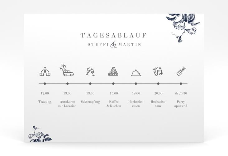 """Tagesablauf Poster Hochzeit """"Magnificent"""" 70 x 50 cm Poster blau"""