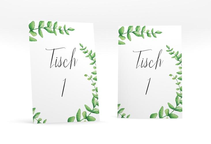 """Tischnummer Hochzeit """"Botanic"""" Tischaufsteller weiss"""
