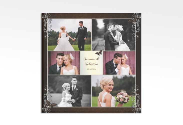 """Hochzeitscollage Leinwand """"Toulouse"""" 30 x 30 cm Leinwand braun"""