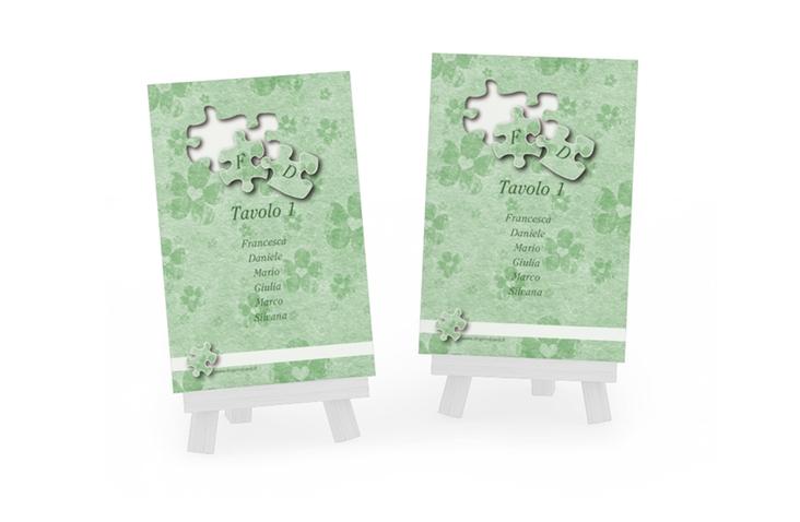 Segnaposti matrimonio collezione Bergamo Tischaufsteller verde