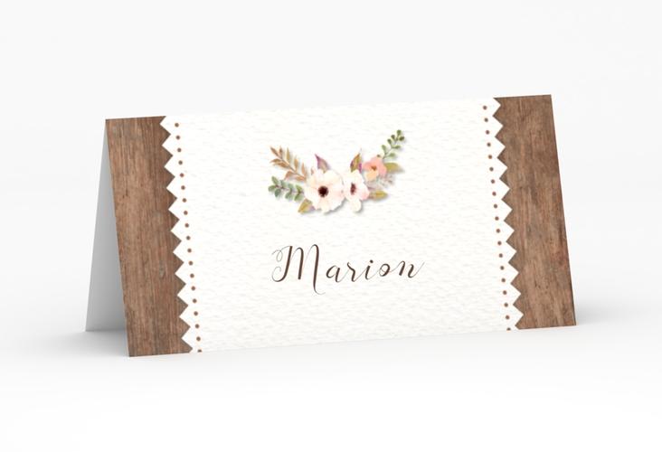 """Tischkarte Hochzeit """"Heimatjuwel"""" Tischkarten braun"""