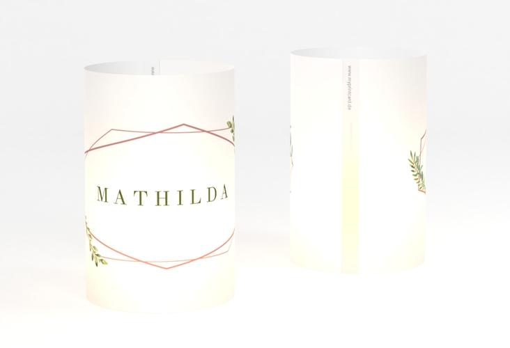 """Windlicht Hochzeit """"Herbarium"""" Windlicht rosa"""