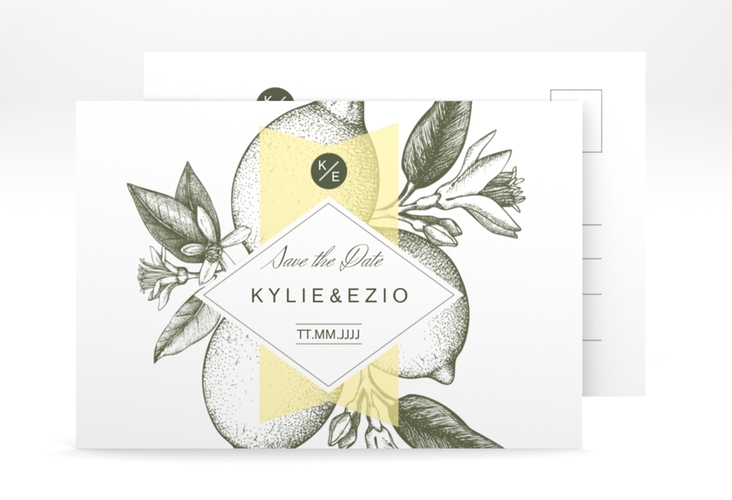 "Save the Date-Postkarte ""Lemon"" A6 Postkarte"