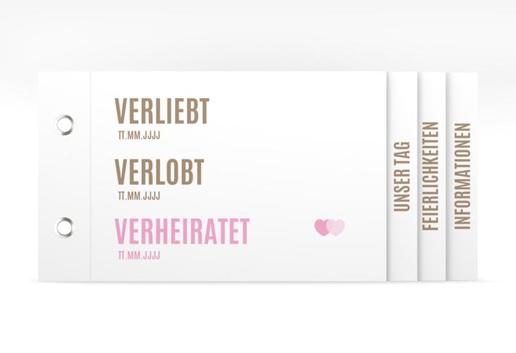 """Hochzeitseinladung """"Couple"""" Booklet"""