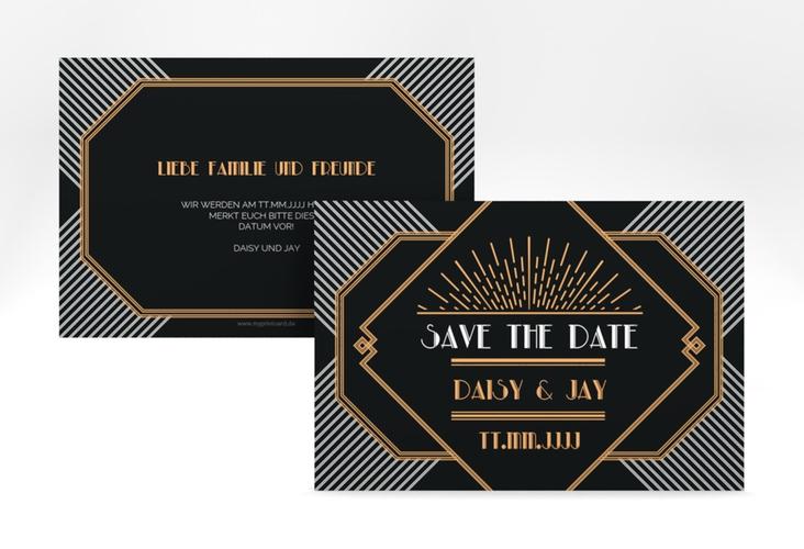 "Save the Date-Karte Hochzeit ""Gatsby"" A6 quer"