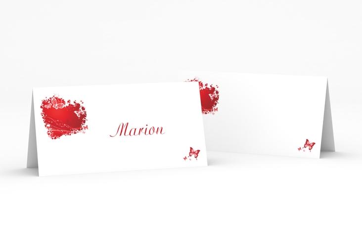 """Tischkarte Hochzeit """"Mailand"""" Tischkarten rot"""