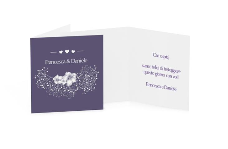 Biglietti Bomboniera matrimonio collezione Pescara Geschenkanhänger 10er Set lila