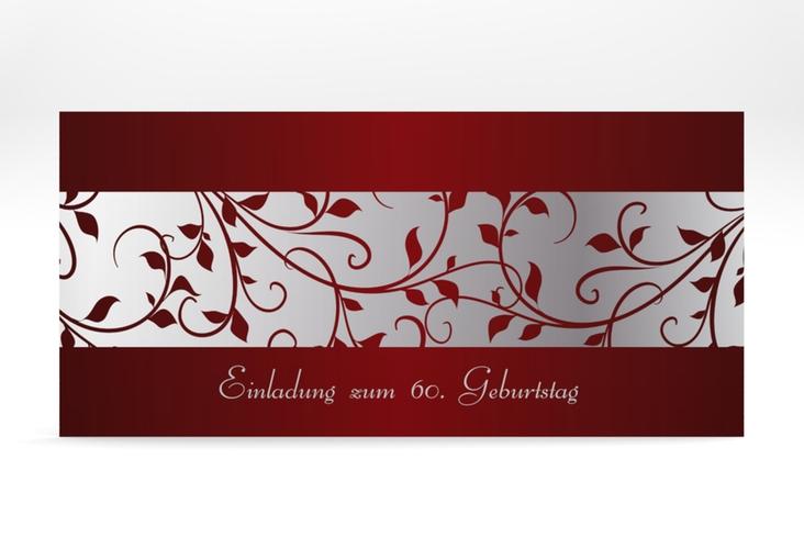 "Einladungskarte ""Hermann/Hermine"" DIN lang rot"