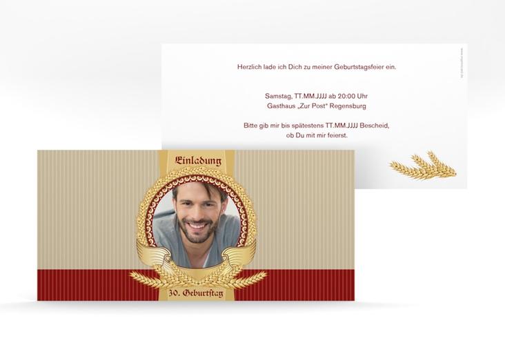 """Einladungskarte """"Franz"""" DIN lang"""
