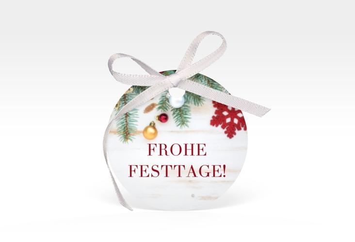 """Geschenkanhänger Weihnachten """"Weihnachtsschmuck"""" Geschenkanhänger, rund"""