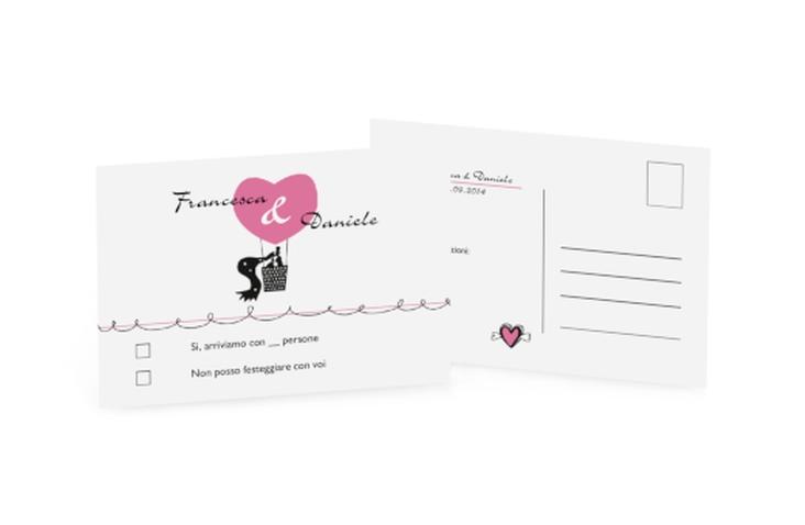 Biglietti risposta matrimonio collezione Alicante A6 Postkarte
