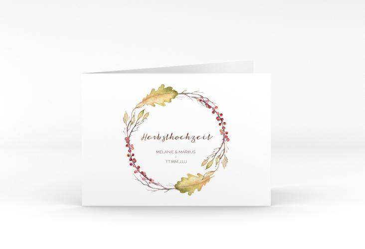 """Dankeskarte Hochzeit """"Herbsthochzeit"""" A6 Klappkarte Quer"""
