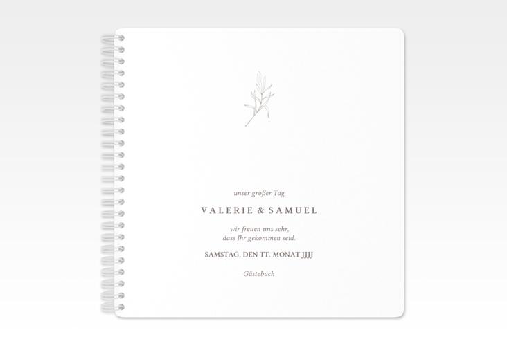"Gästebuch Hochzeit ""Ivy"" Ringbindung weiss"