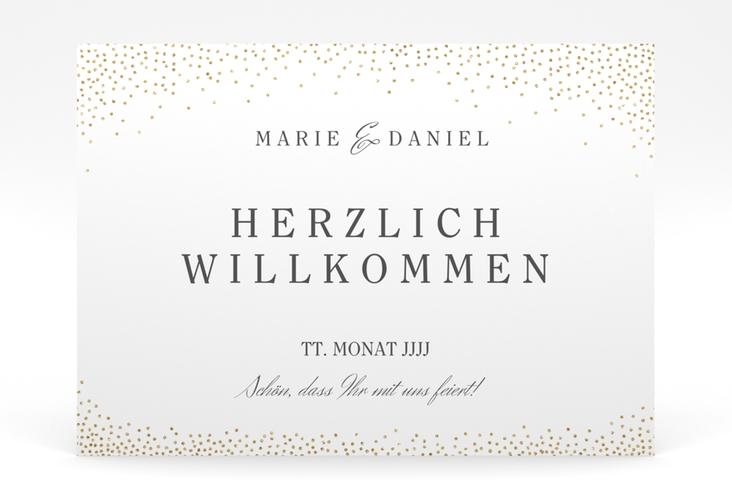 "Willkommensschild Poster ""Glitter"" 70 x 50 cm Poster weiss"
