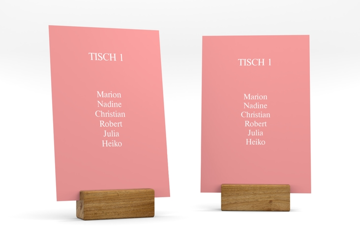 """Tischaufsteller Hochzeit """"Classic"""" Tischaufsteller rosa"""