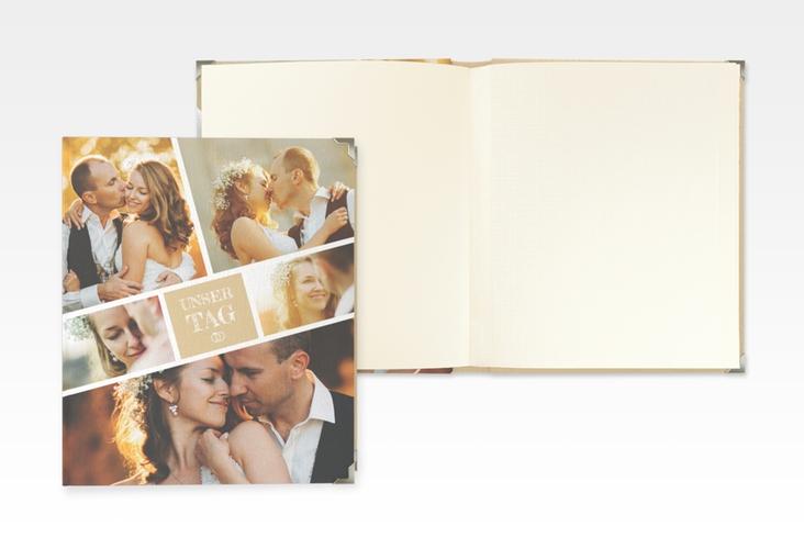 """Hochzeitsalbum """"Rise"""" 21 x 25 cm beige"""