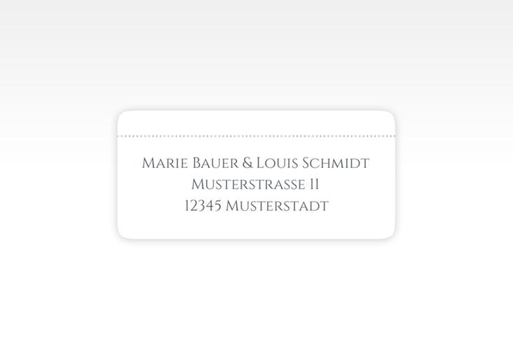 """Absenderetikett Hochzeit """"Pure"""" 45,7 x 21,2 mm grau"""
