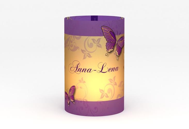 """Windlicht Hochzeit """"Toulouse"""" Windlicht lila"""