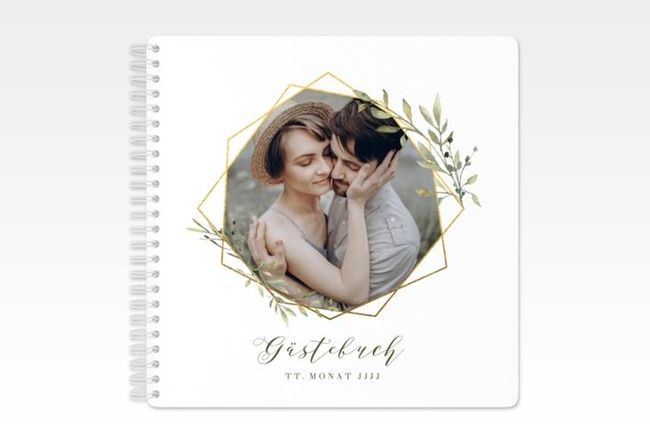 "Gästebuch Hochzeit ""Acacia"" Ringbindung weiss"