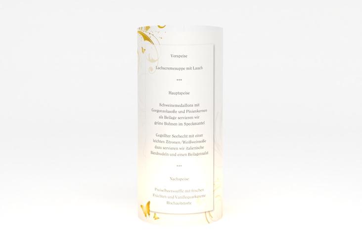 """Windlicht Menü Hochzeit """"Palma"""" Windlicht gold"""