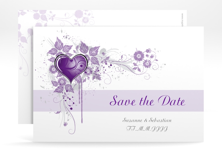 "Save the Date-Karte Hochzeit ""Triest"" A6 quer"