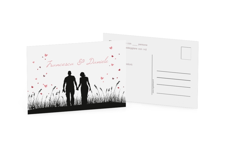 Biglietti risposta matrimonio collezione Rouen A6 Postkarte
