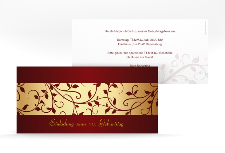 "Einladungskarte ""Hermann/Hermine"" DIN lang"