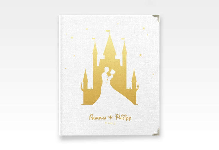 """Hochzeitsalbum """"Castle"""" 21 x 25 cm gold"""