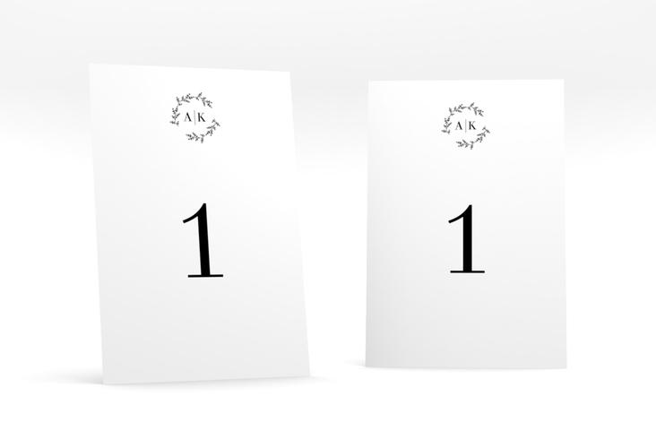 """Tischnummer Hochzeit """"Filigrana"""" Tischaufsteller schwarz"""