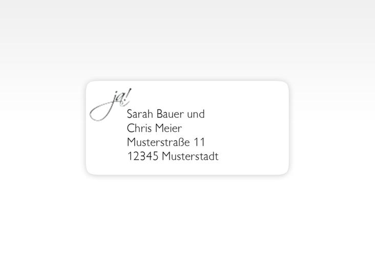 """Absenderetikett Hochzeit """"Clarity"""" 45,7 x 21,2 mm"""